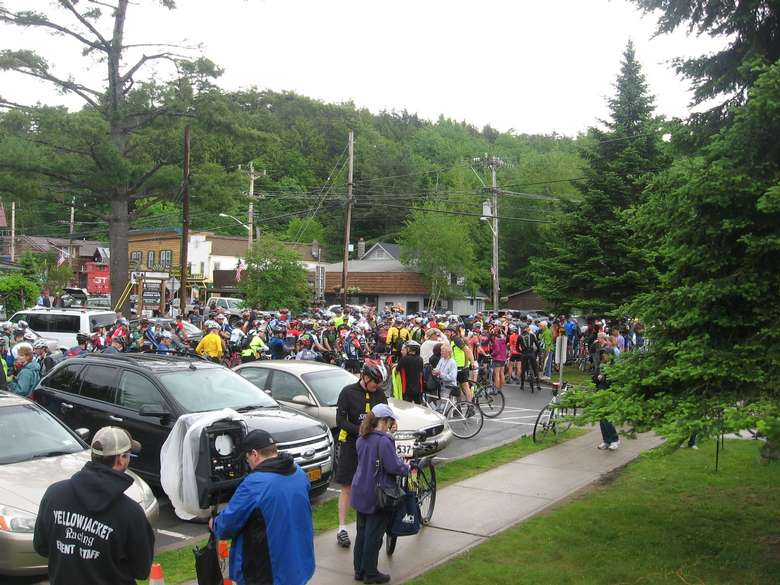group of bike riders for race