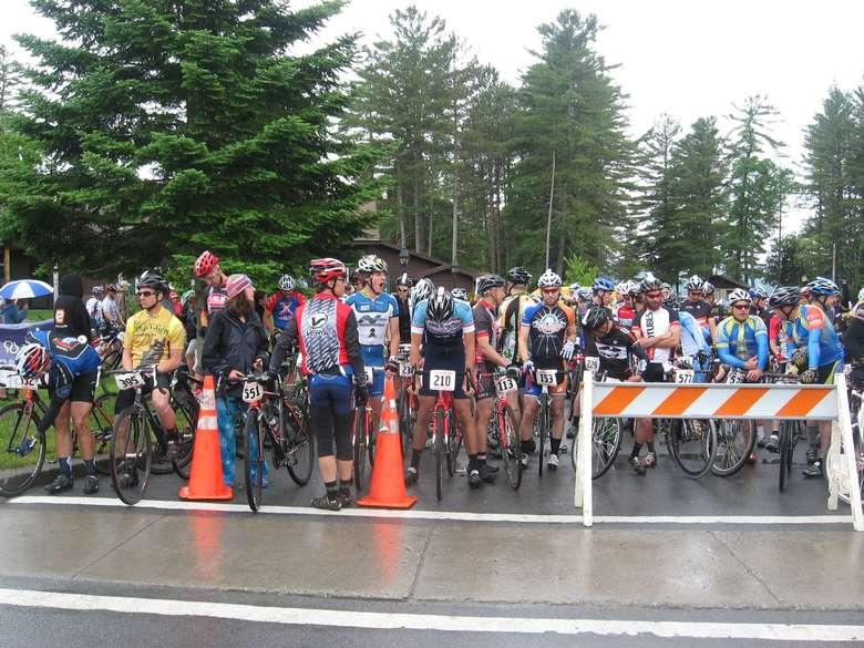bike riders at crosswalk