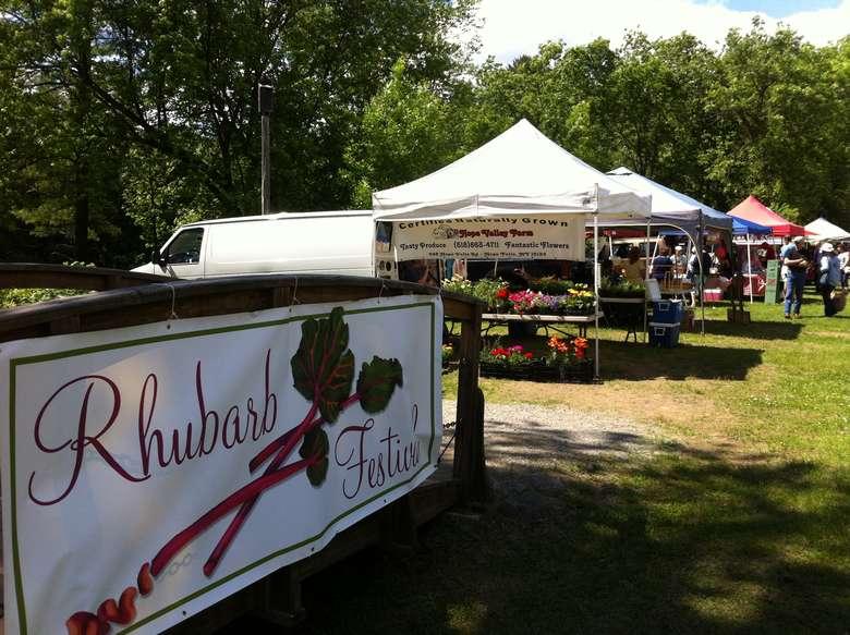 rhubarb fest sign