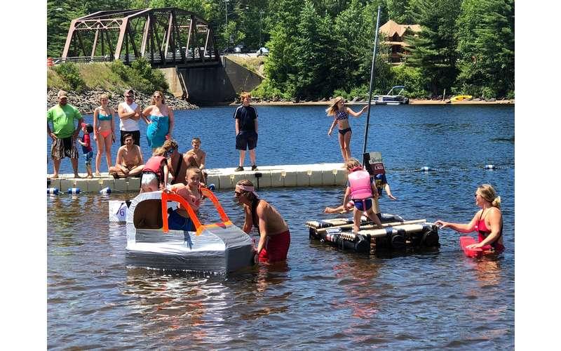 cardboard boxes boat race