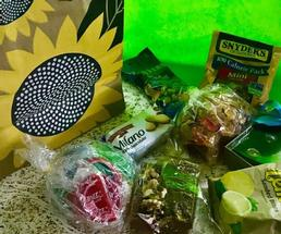 treats and bag with sunflower image