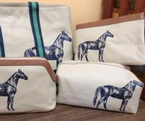 small bags with horses on them
