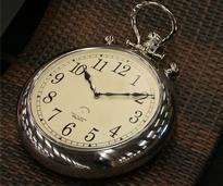 a silver pocket watch