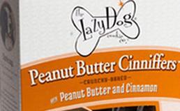 box of peanut butter dog treats