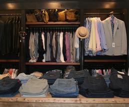 menswear in a store