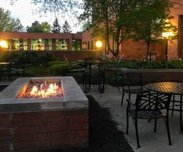outdoor fire at hotel