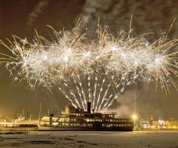 fireworks on lake george