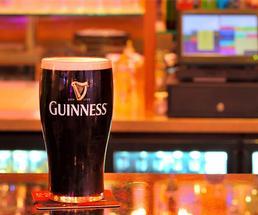 guinness on bar