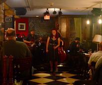 singer in a bar