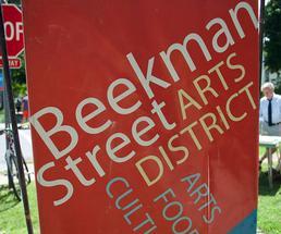 beekman street arts district flag