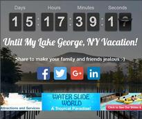 Snapshot of Lake George vacation countdown timer