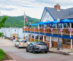 the outside of the Lake George Beach Club