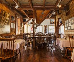 rustic restaurant tables