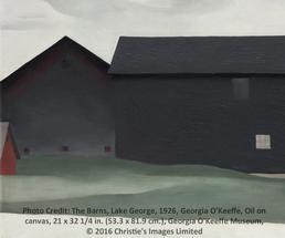 barns painting by georgia o'keeffe
