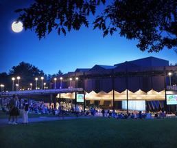 saratoga performing arts center at night