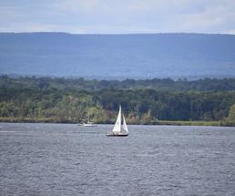 sailboat on saratoga lake