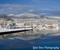 lake george in winter
