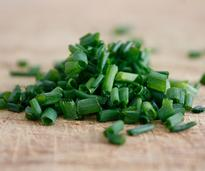 scallions cut up into very small slices
