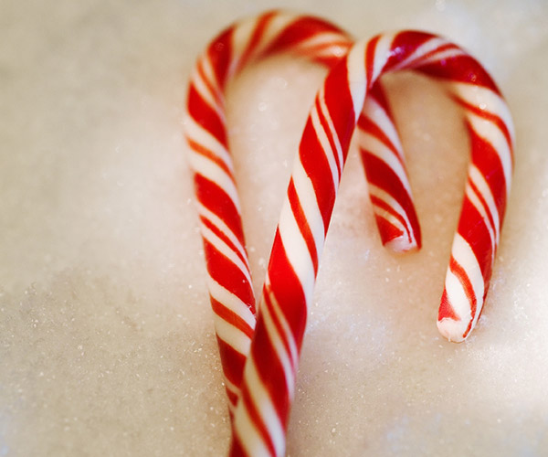 two red and white candy canes