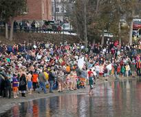 Polar Plunge in Lake George NY