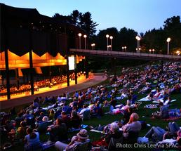 crowd watching the philadelphia orchestra at spac