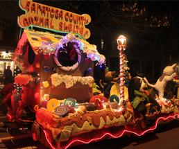 float in holiday parade