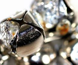 close up view of jingle bells