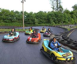 kids driving go karts
