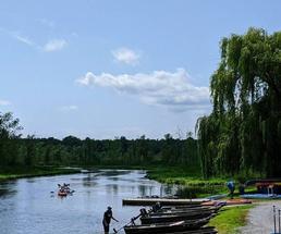 kayakers on lake