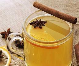 hot cider with lemon