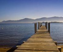 long dock at lake george shore