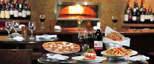 wine bar near pizza oven