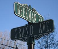 a sign on beekman street