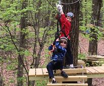 kids on an adventure course