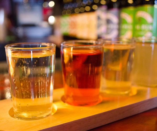 flight of cider samples