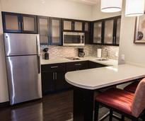 kitchen in an extended stay suite