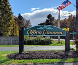 sign for clifton common
