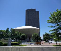 the egg and corning tower in albany