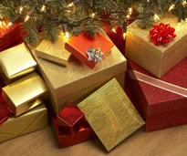 holiday gifts under the tree
