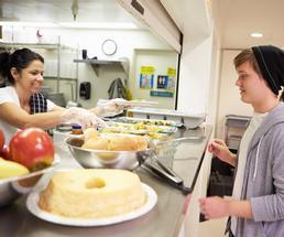 volunteer at soup kitchen