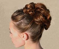 updo hairstyle for a wedding
