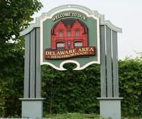 delaware neighborhood sign in albany