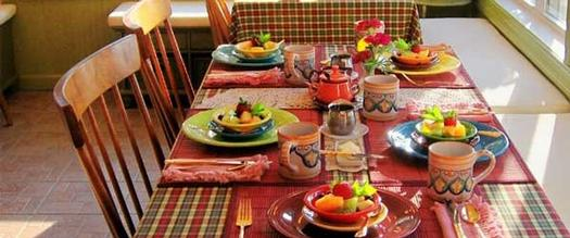 brunch spread on a table