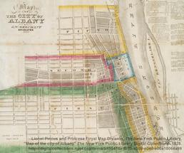 historic map of albany ny