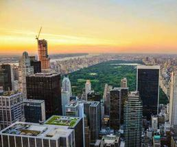aerial view of NYC and Central Park