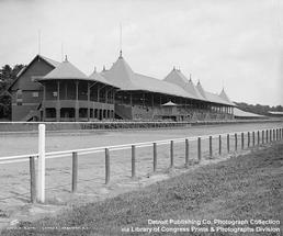 historic photo of saratoga race course