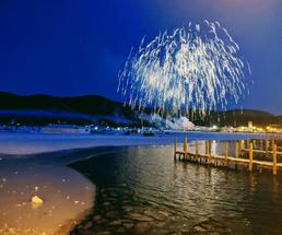 fireworks in the winter