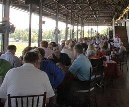 people dining at saratoga race course