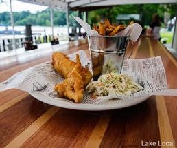 fish and chips at the lake local