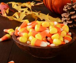 bowl of candy corn